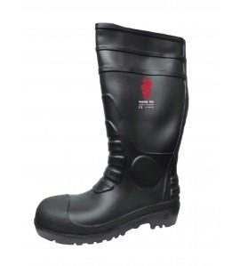 Warrior Black Safety Steel Toe Cap Wellington Boot